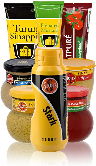 Scandinavian mustard and tomato concentrate