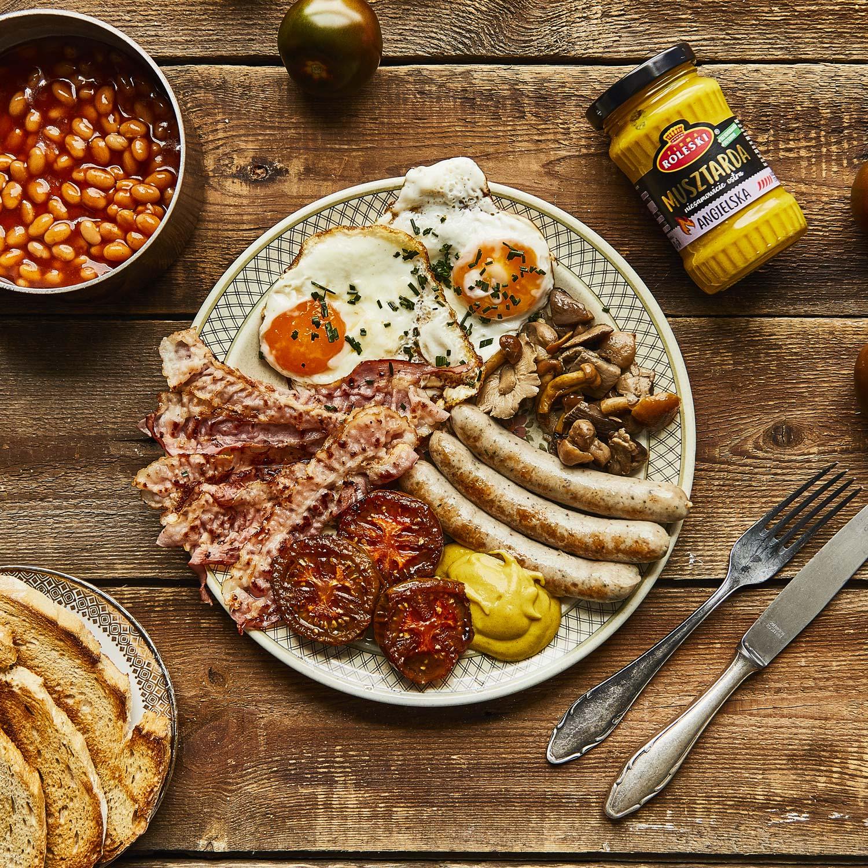 Tradycyjne angielskie śniadanie
