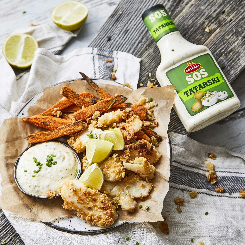 Angielskie fish & chips w wersji z batatów