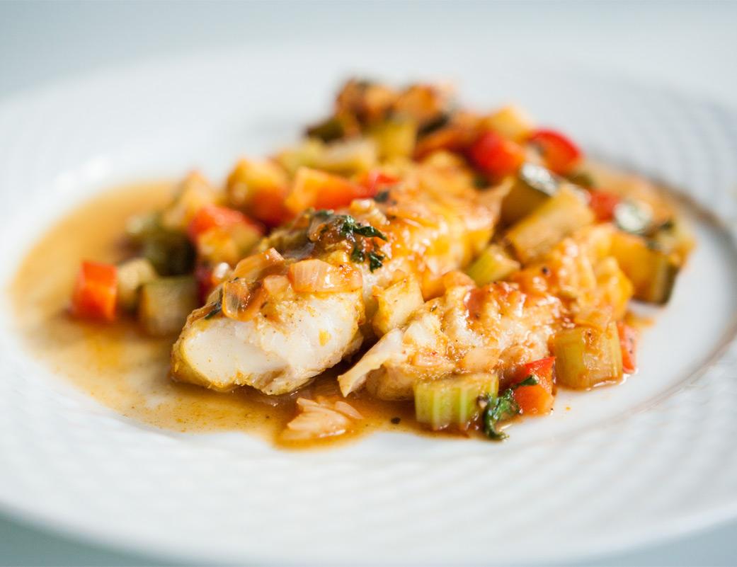 Ryba pieczona po kreolsku